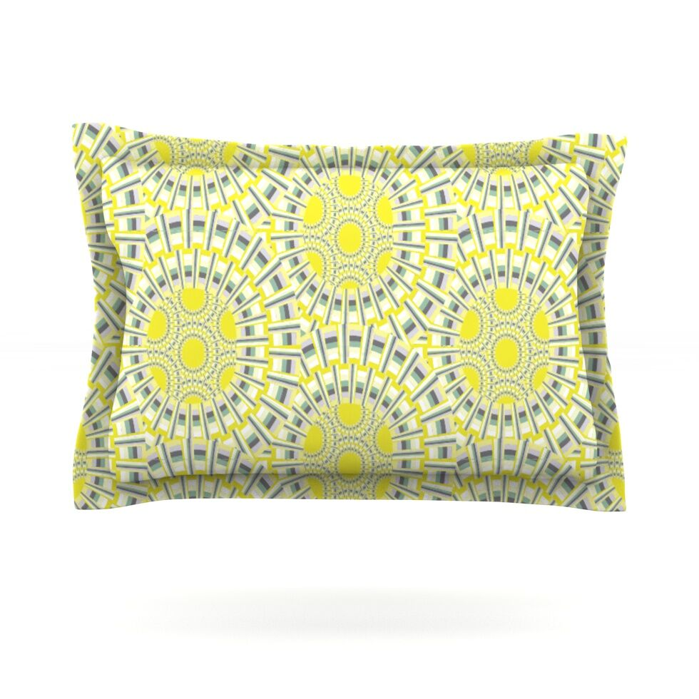 Sprouting Cells by Miranda Mol Featherweight Pillow Sham Size: King, Fabric: Cotton