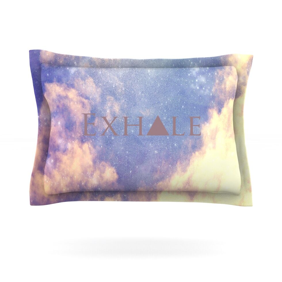 Exhale by Rachel Burbee Featherweight Pillow Sham Size: Queen, Fabric: Cotton