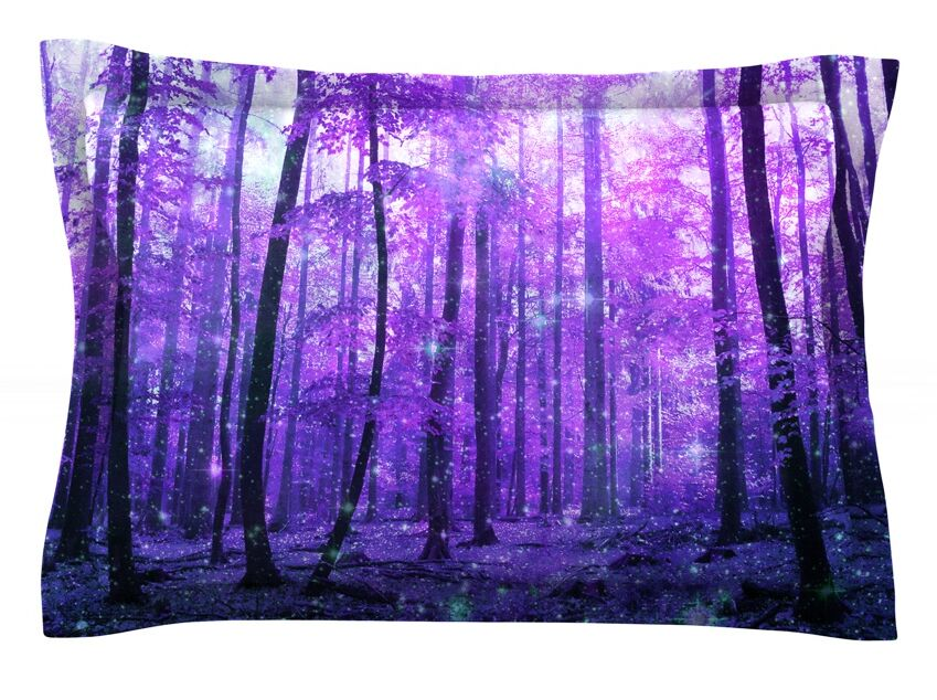 Magic Woods by Iris Lehnhardt Featherweight Pillow Sham Size: King, Fabric: Cotton