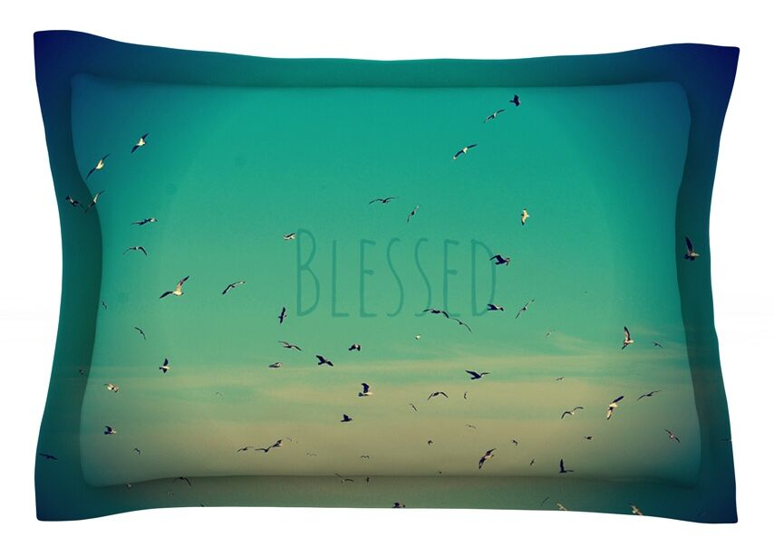 Blessed by Robin Dickinson Featherweight Pillow Sham Size: King, Fabric: Cotton