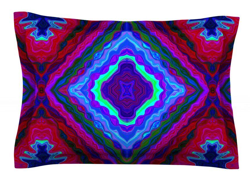 Kilim by Nina May Featherweight Pillow Sham Size: King, Fabric: Cotton