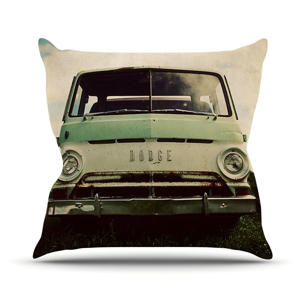 Dodge by Angie Turner Car Throw Pillow Size: 26'' H x 26'' W x 1