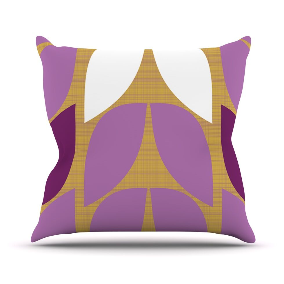 Orchid Petals Throw Pillow Size: 18'' H x 18'' W x 1