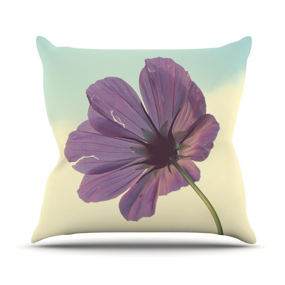 Torn But Never Broken Flower Throw Pillow Size: 26'' H x 26'' W x 1