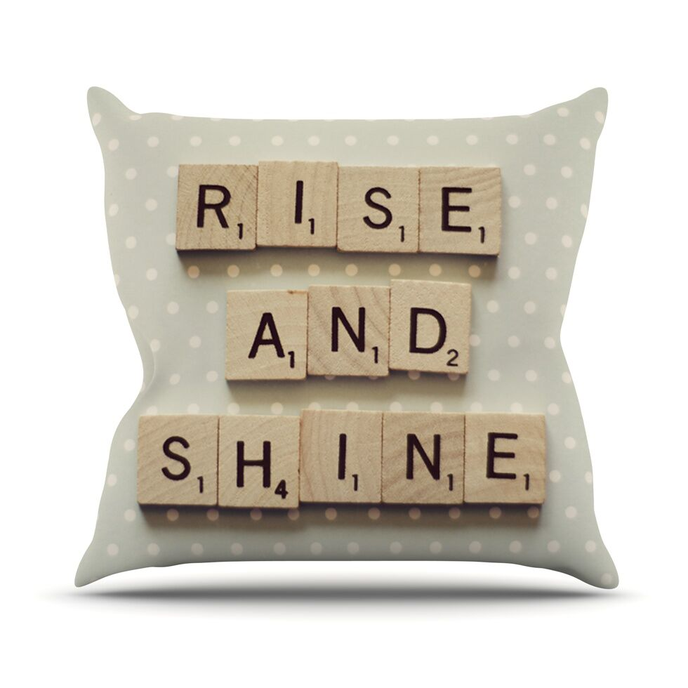 Rise and Shine Throw Pillow Size: 26'' H x 26'' W x 1