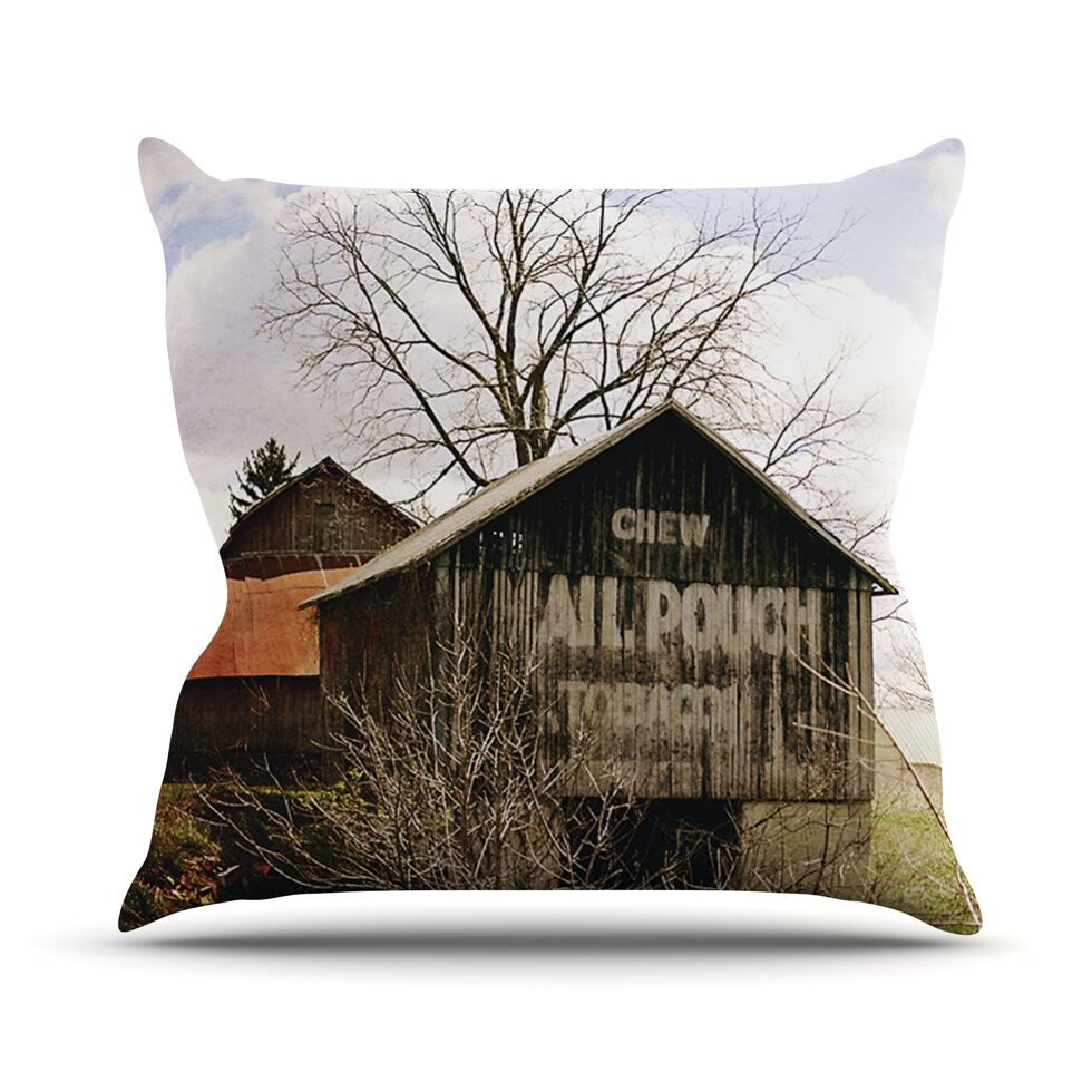 Mail Pouch Barn by Angie Turner Wooden House Throw Pillow Size: 26'' H x 26'' W x 1