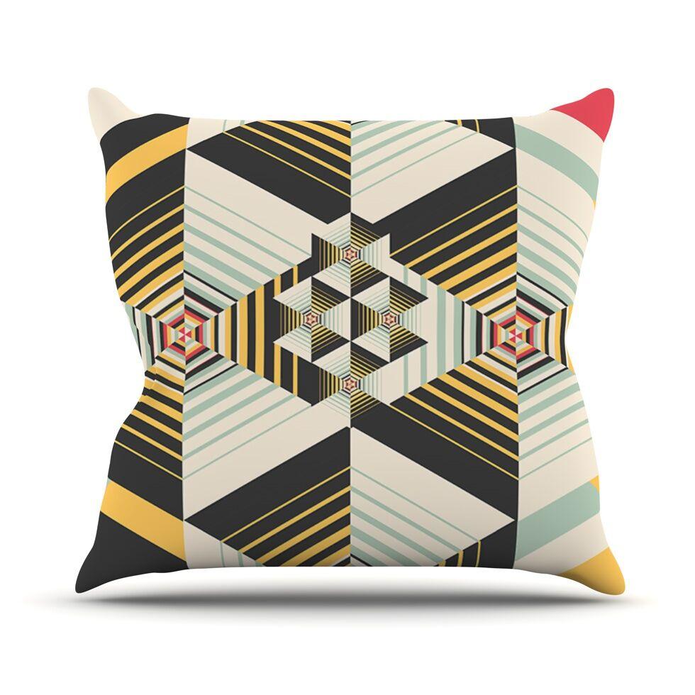 La Plus by Danny Ivan Throw Pillow Size: 26'' H x 26'' W x 1