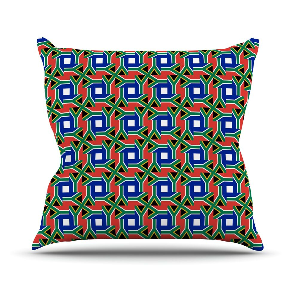 South Africa by Bruce Stanfield Throw Pillow Size: 26'' H x 26'' W x 1