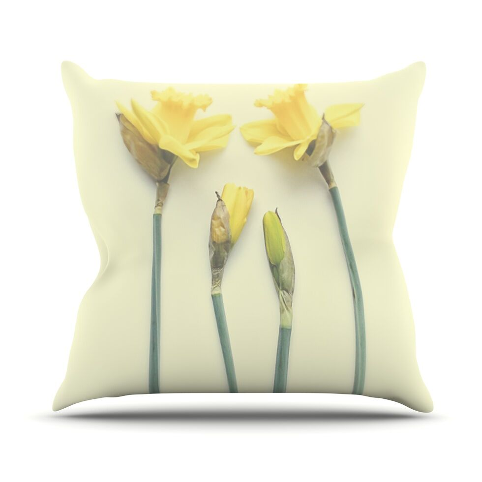 Springtime by Debbra Obertanec Tulip Throw Pillow Size: 26'' H x 26'' W x 1