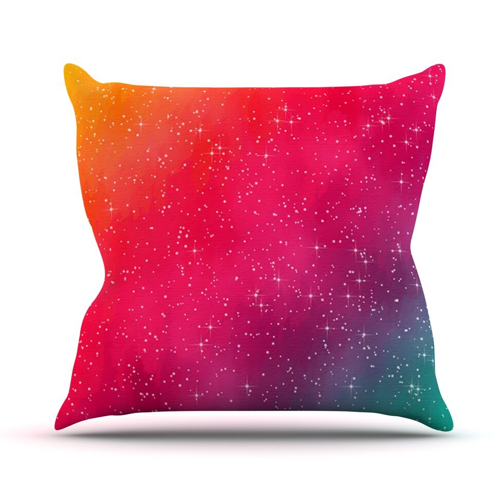 Colorful Constellation by Fotios Pavlopoulos Glam Throw Pillow Size: 26'' H x 26'' W x 1