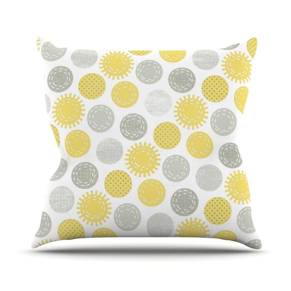 Sunspot by Heidi Jennings Spots Throw Pillow Size: 26