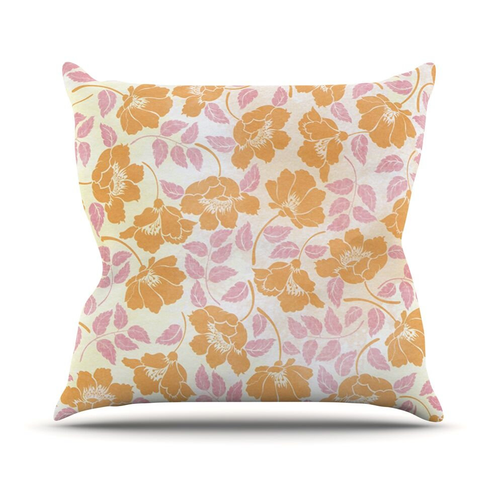 Sun Kissed Petals by Heidi Jennings Throw Pillow Size: 26