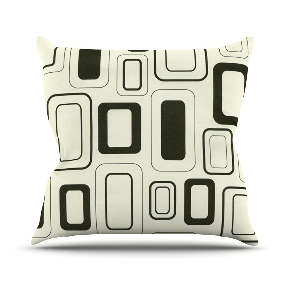 Cubes For Days by Heidi Jennings Throw Pillow Size: 26