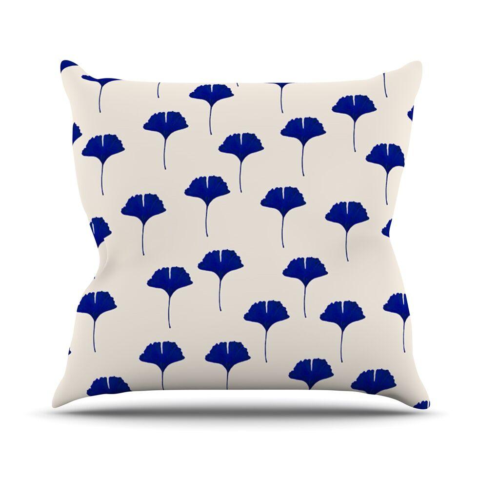 Leaf by Iris Lehnhardt Throw Pillow Size: 26