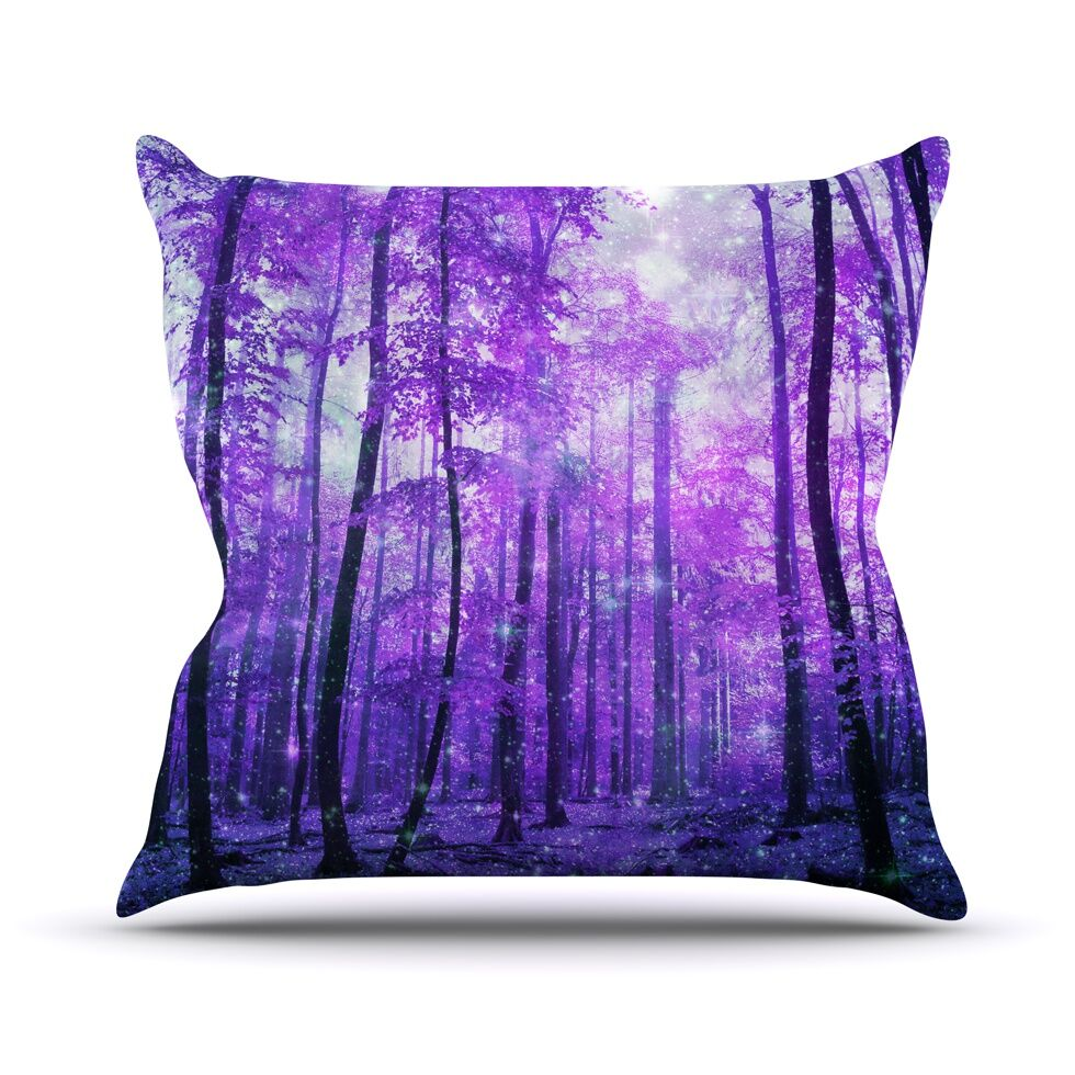 Magic Woods by Iris Lehnhardt Forest Throw Pillow Size: 26