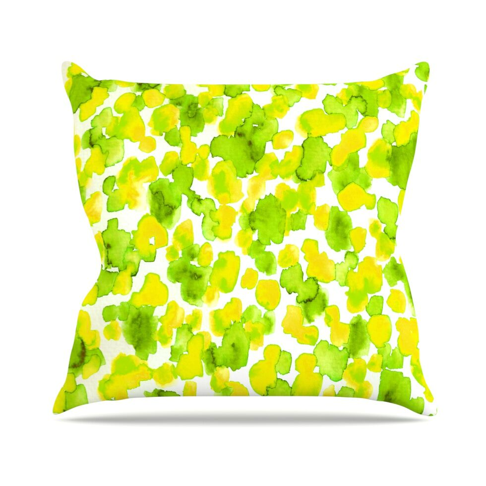 Giraffe Spots by Ebi Emporium Throw Pillow Size: 26