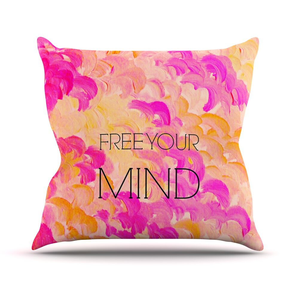 Free Your Mind by Ebi Emporium Throw Pillow Size: 26