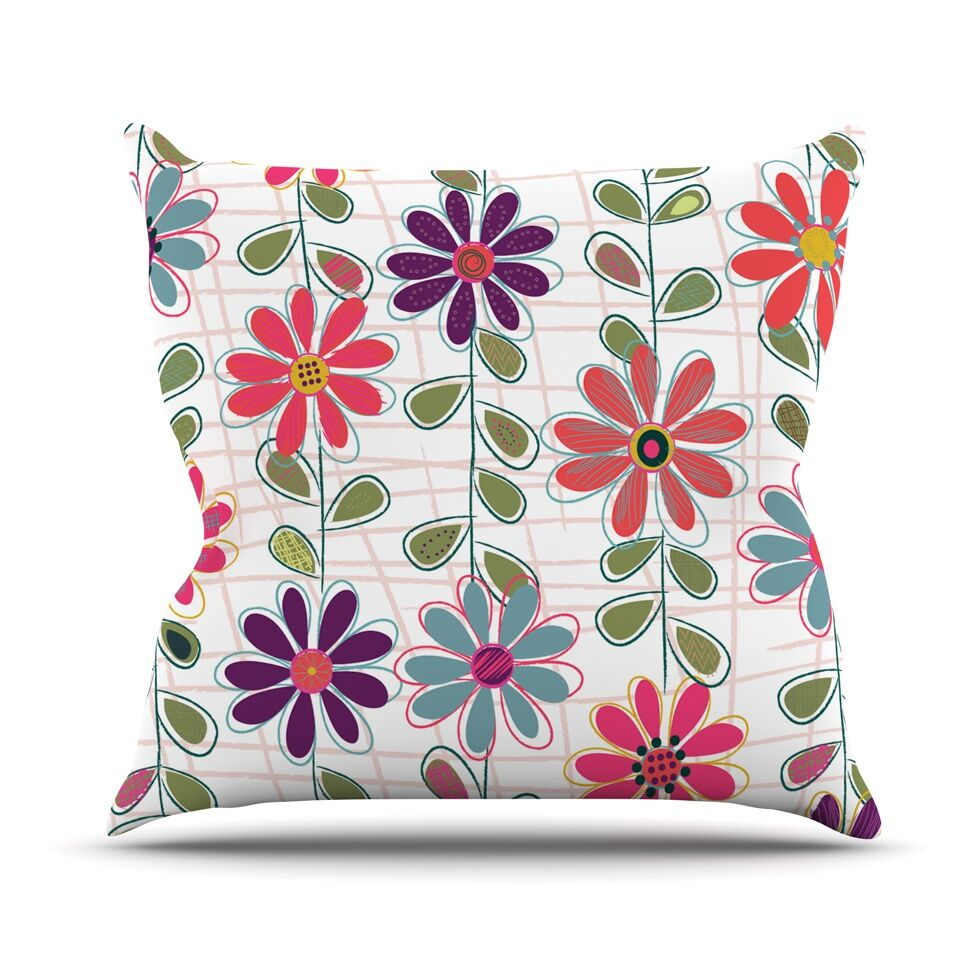 Fall Flowers by Jolene Heckman Floral Throw Pillow Size: 18