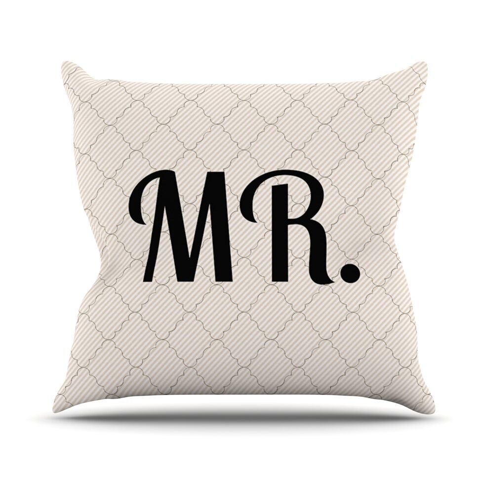 MR Throw Pillow Size: 20