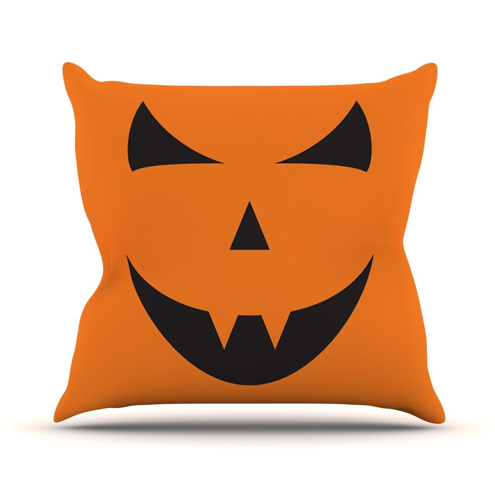 Pumpkin Trick Throw Pillow Size: 26