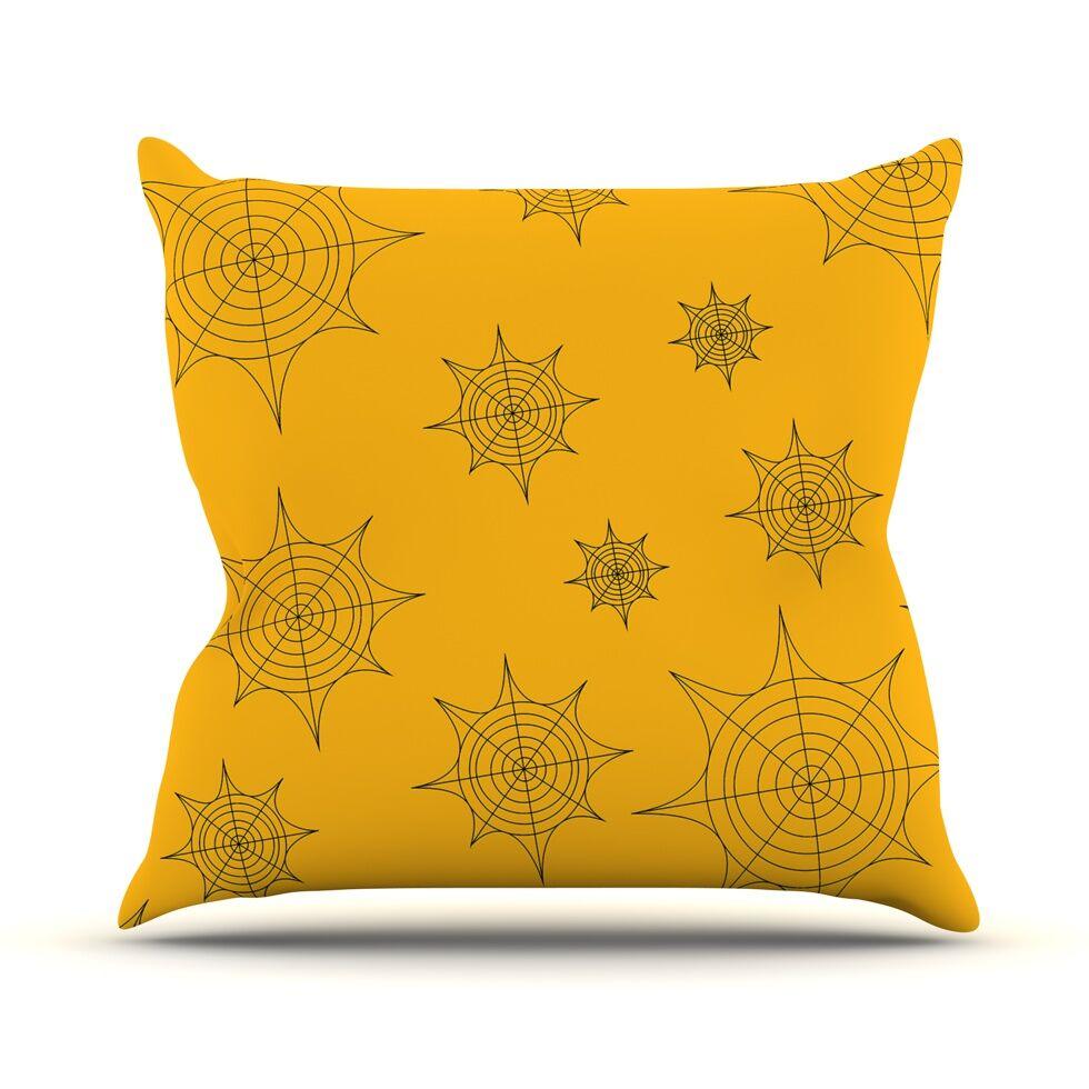 Mini Webs Throw Pillow Color: Orange, Size: 26