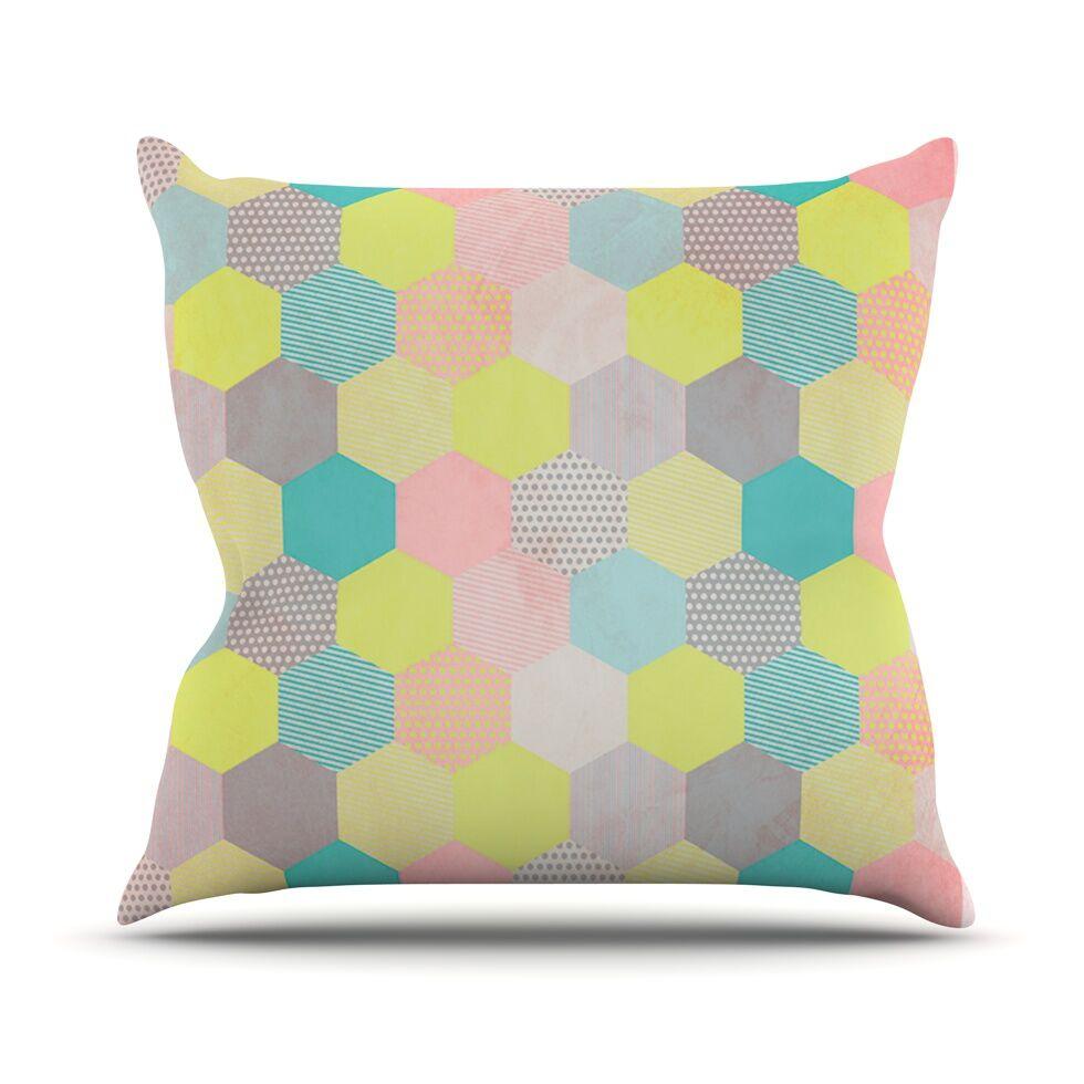 Pastel Hexagon by Louise Machado Geometric Throw Pillow Size: 26