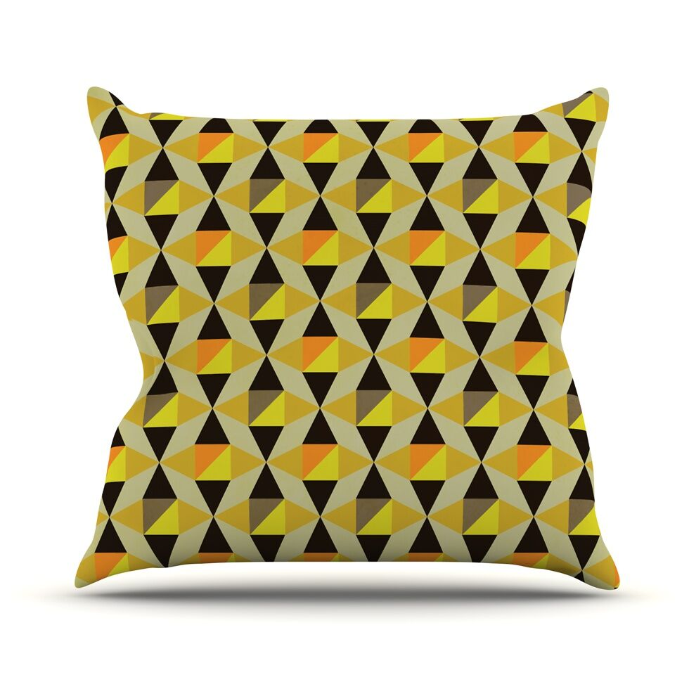 Onyx by Louise Machado Throw Pillow Size: 26