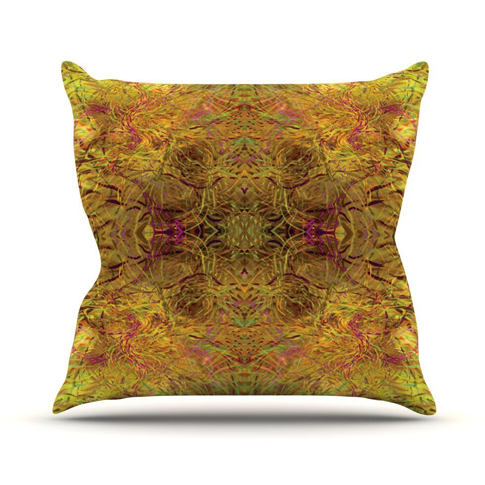Goldenrod by Nikposium Throw Pillow Size: 26