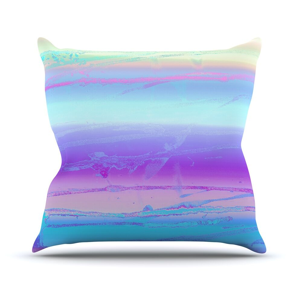 Drip Dye Cool by Nina May Throw Pillow Size: 26