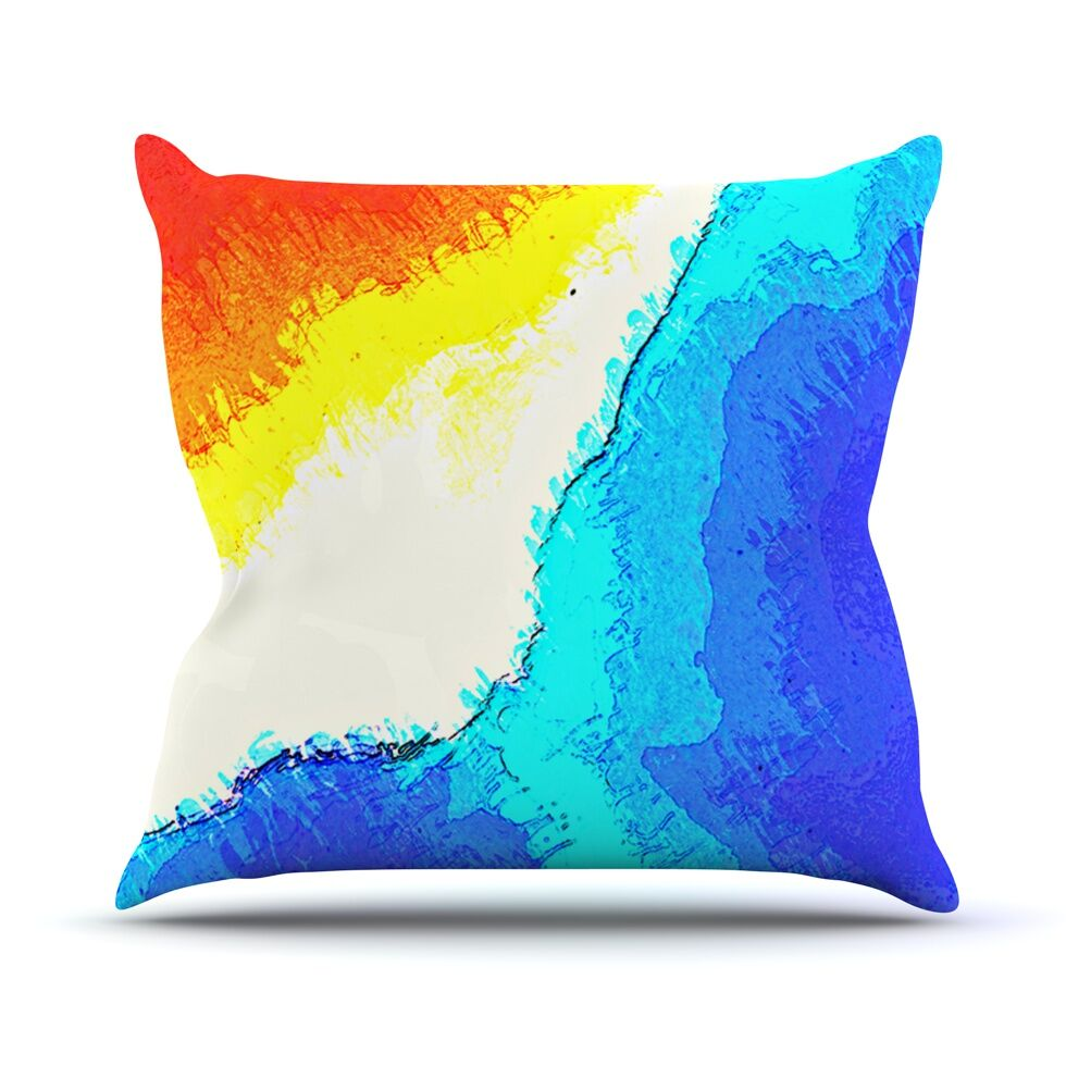 Amalfi Coast by Oriana Cordero Throw Pillow Size: 26