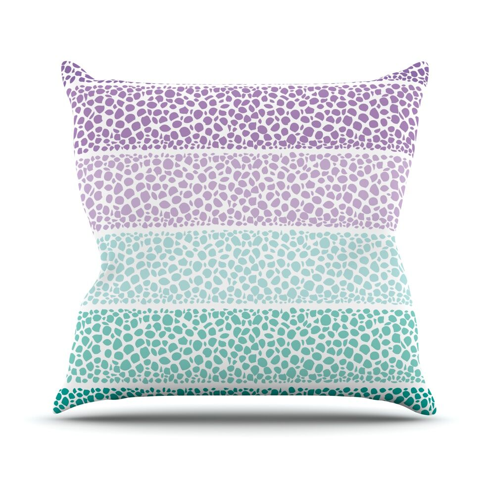 Riverside Pebbles Colored by Pom Graphic Throw Pillow Size: 26