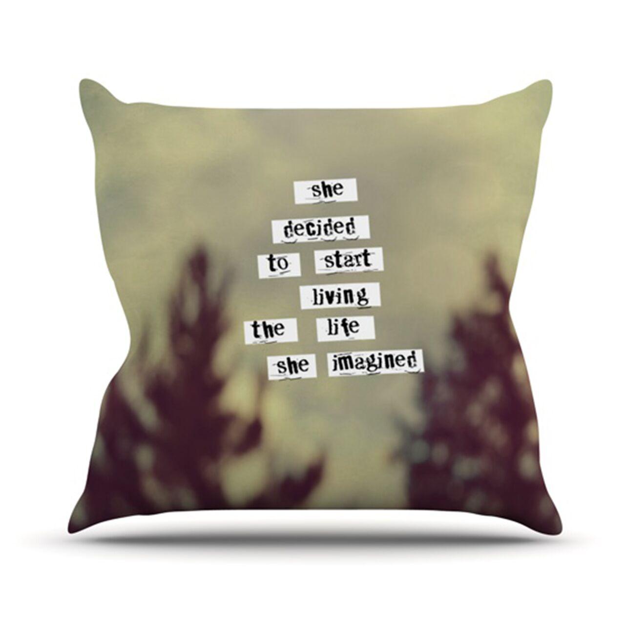 Her Life Throw Pillow Size: 26