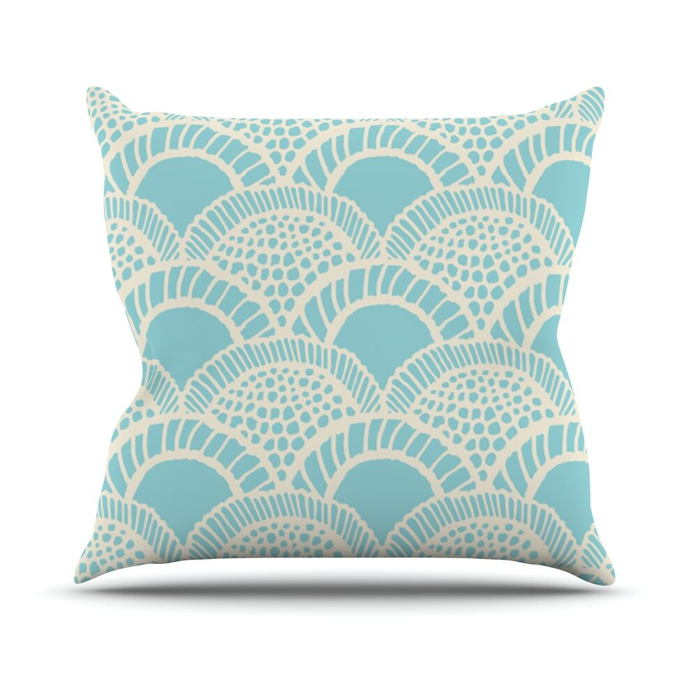 Heathered Scales by Suzie Tremel Throw Pillow Size: 18
