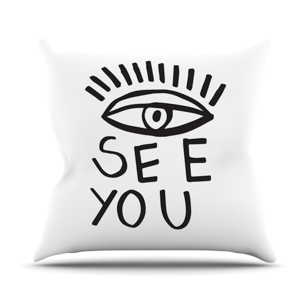 Eye See You by Vasare Nar Throw Pillow Size: 26