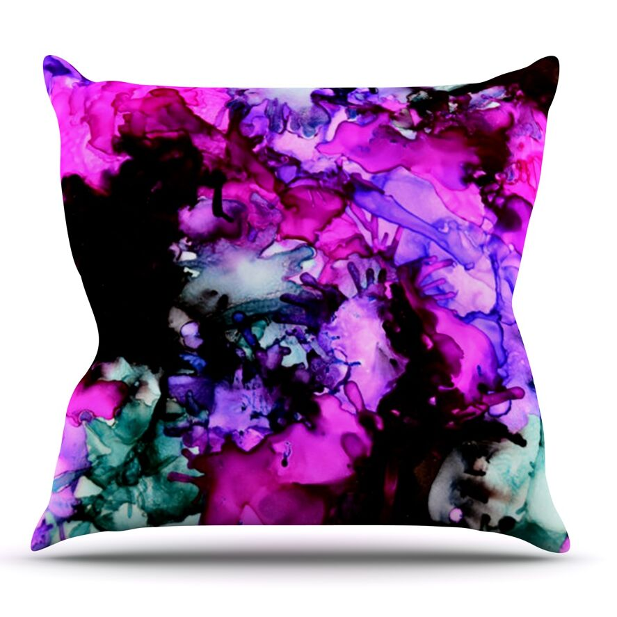 Siren by Claire Day Throw Pillow Size: 26'' H x 26'' W x 1