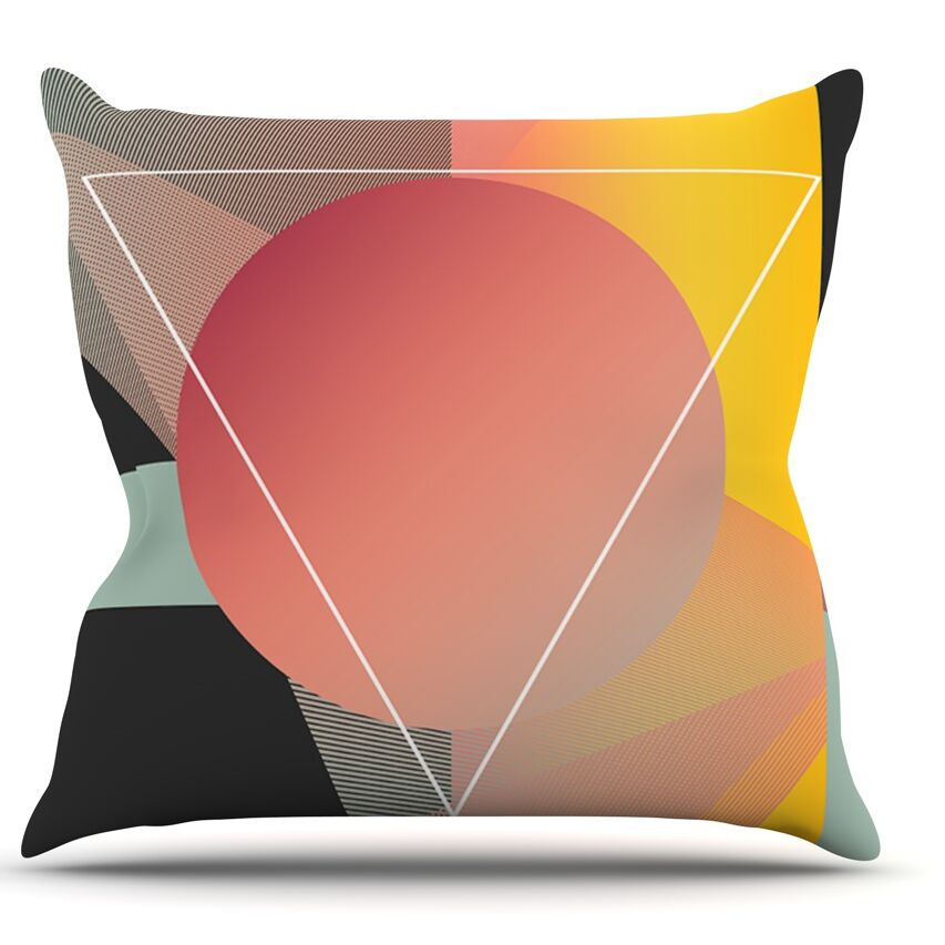 Objectum by Danny Ivan Abstract Throw Pillow Size: 26'' H x 26'' W x 1