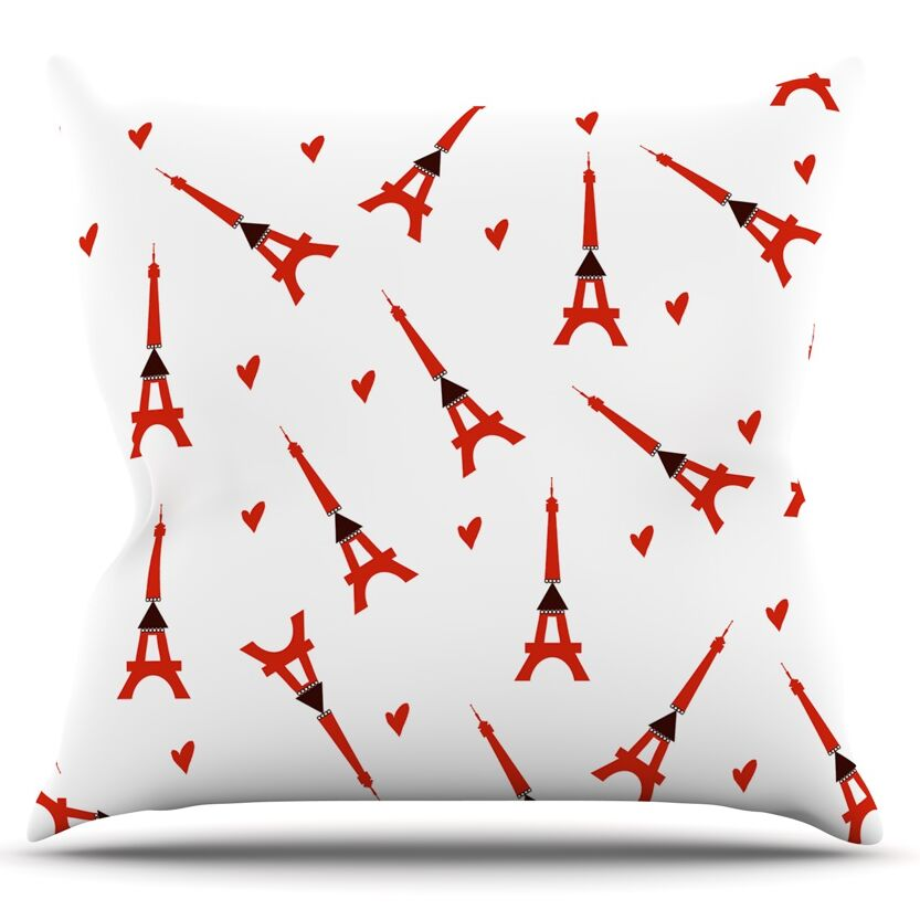 Paris by Louise Throw Pillow Size: 26