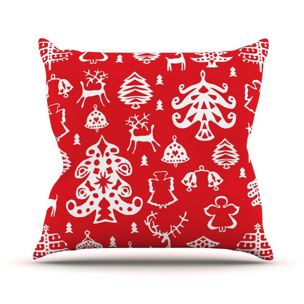 Warm Winter by Miranda Mol Throw Pillow Size: 26