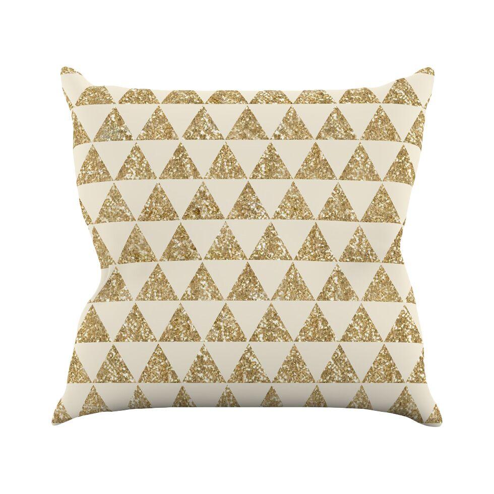 Glitter by Nika Martinez Throw Pillow Size: 26
