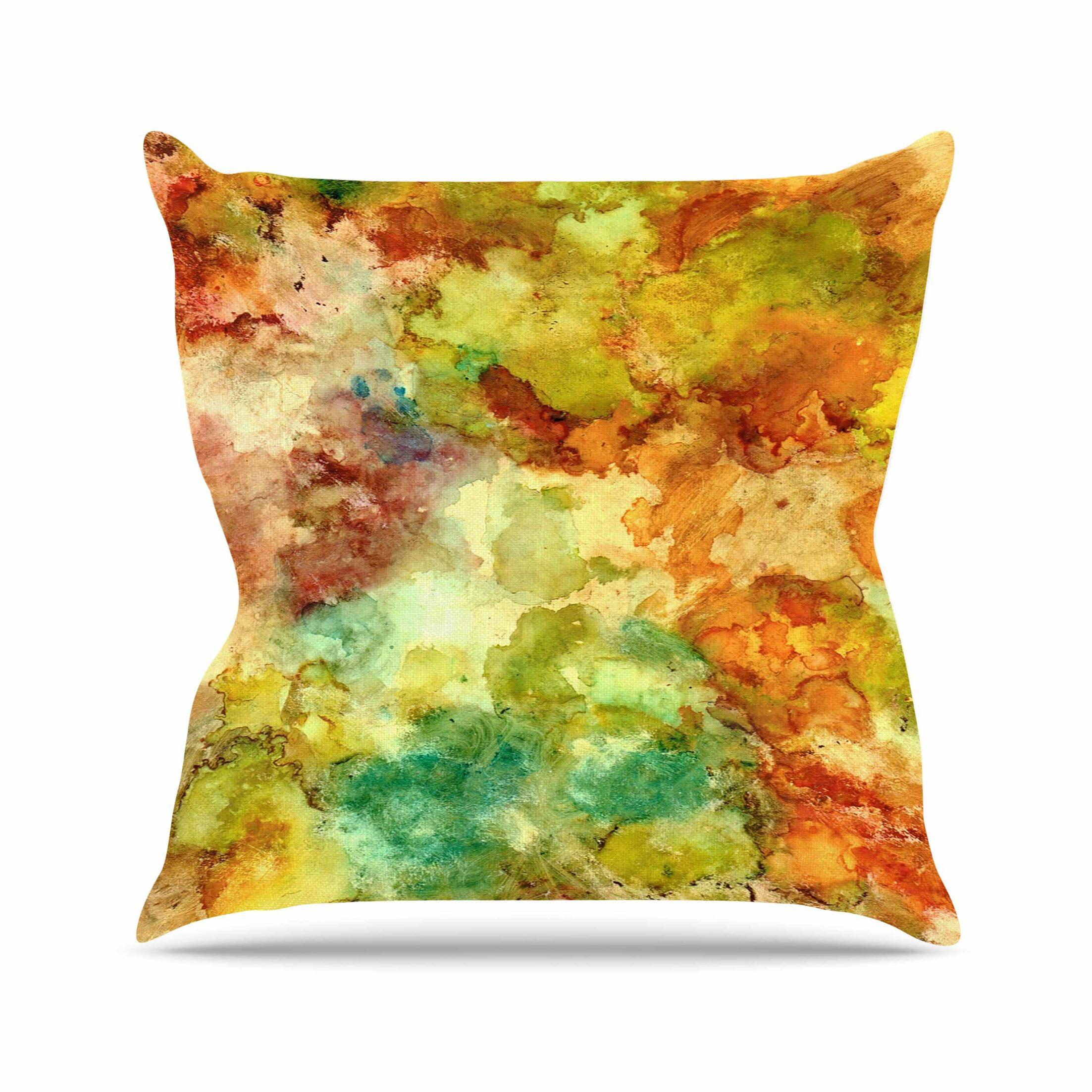 Fall Bouqet Throw Pillow Size: 20'' H x 20'' W