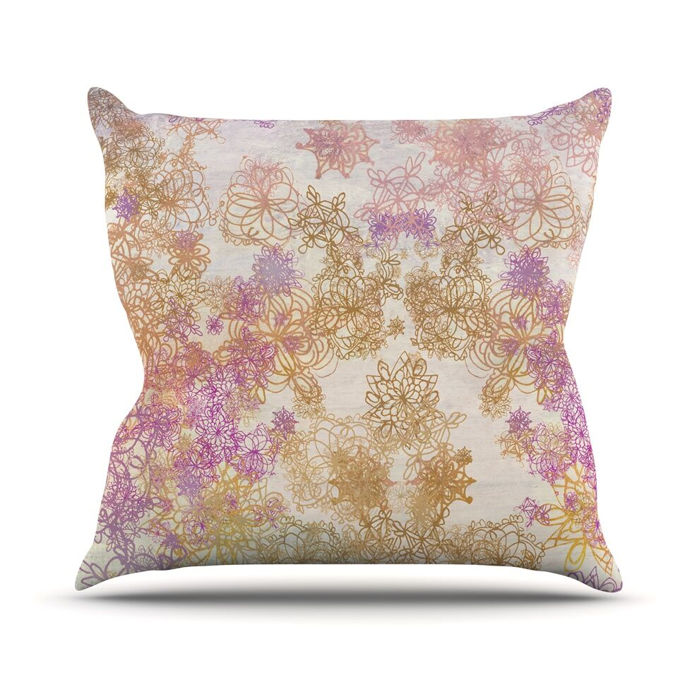 Retro Summer Throw Pillow Size: 26