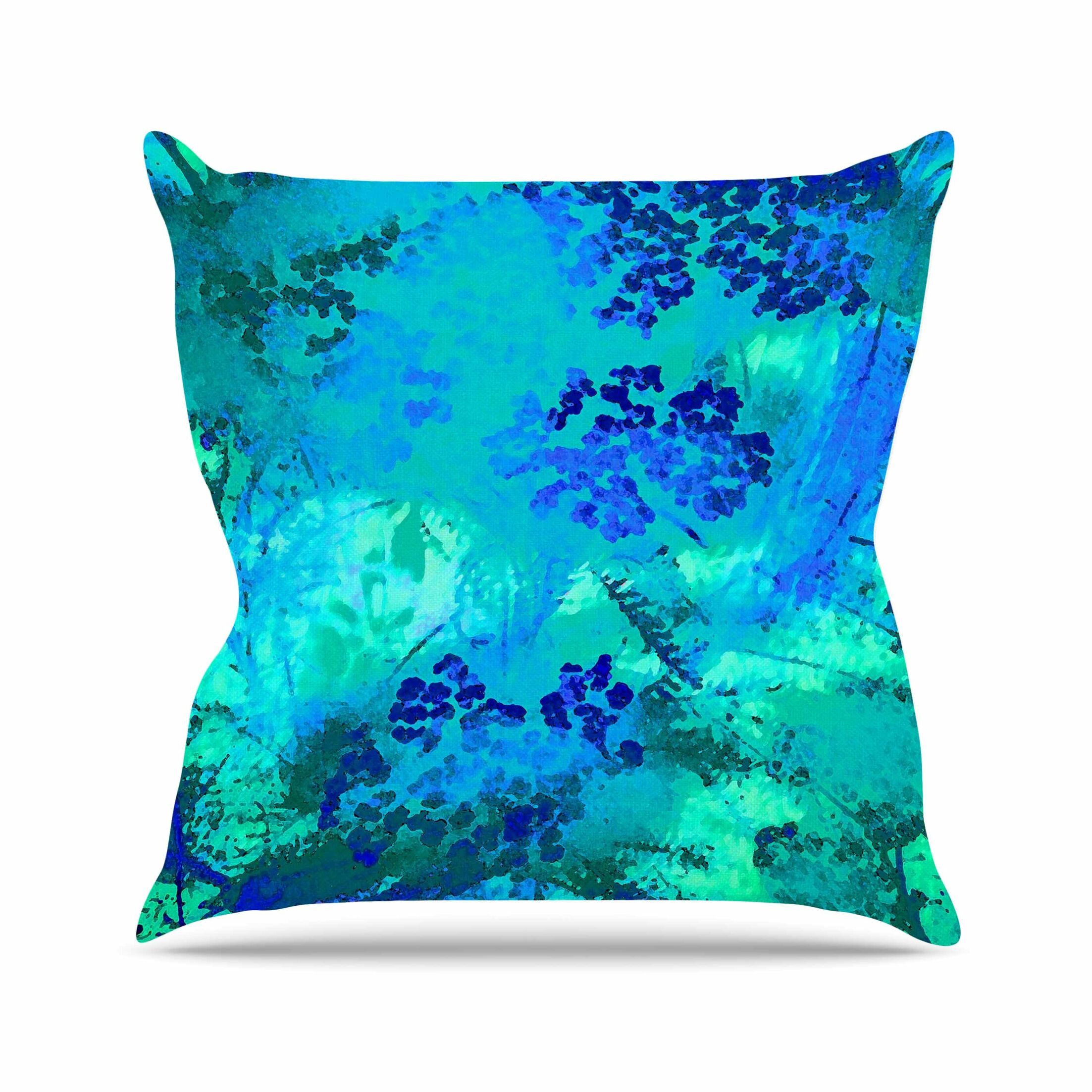 Wildflowers Throw Pillow Color: Yellow, Size: 18'' H x 18'' W