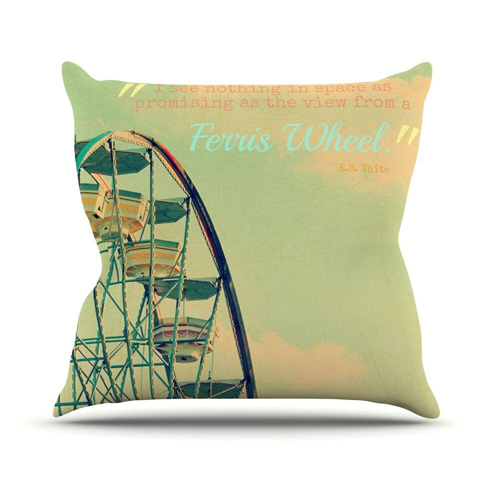Ferris Wheel Throw Pillow Size: 26