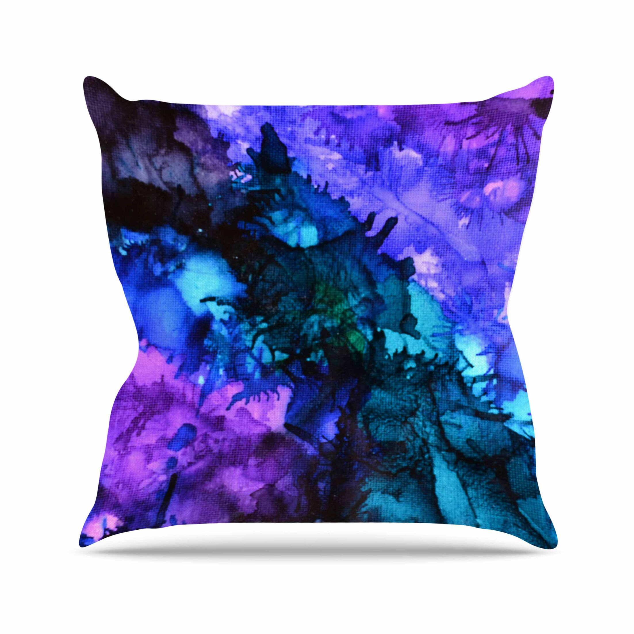Soul Searching Outdoor Throw Pillow Size: 26