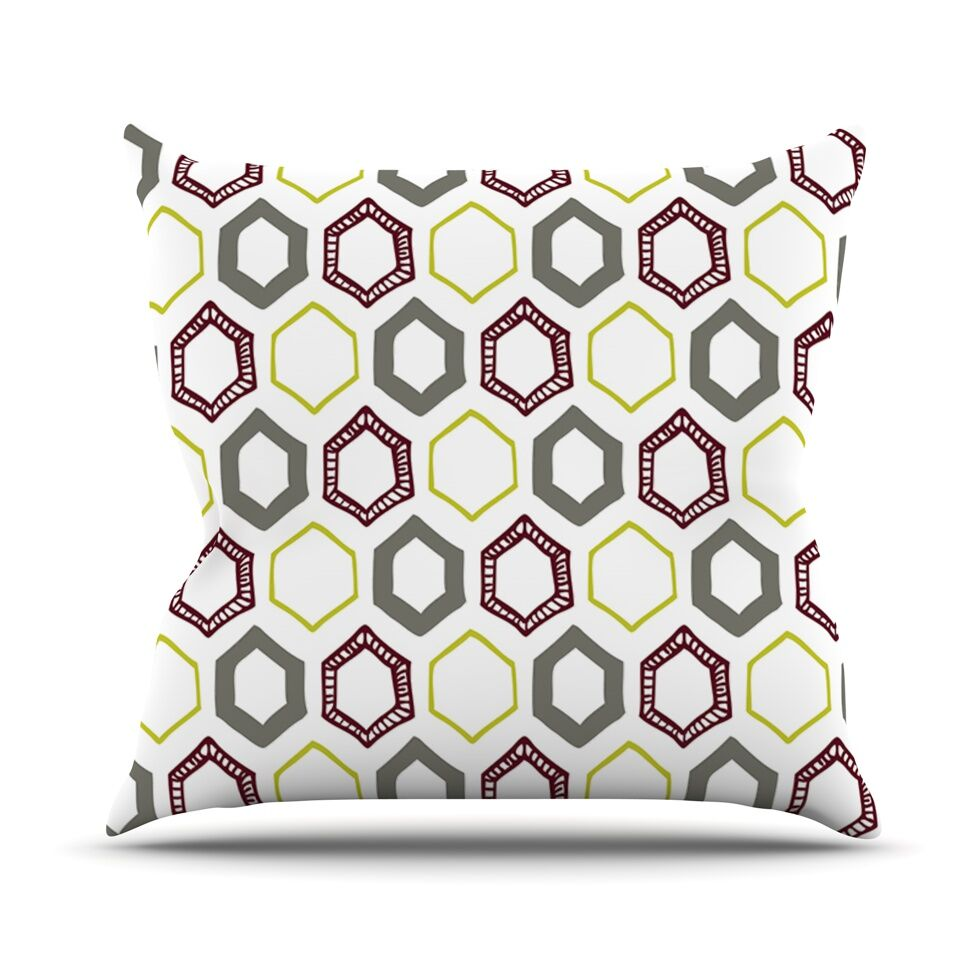 Hexy Small Throw Pillow Size: 26