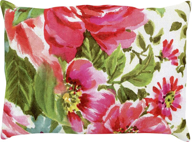 Walk Through The Garden Flowers Outdoor Lumbar Pillow Size: 16