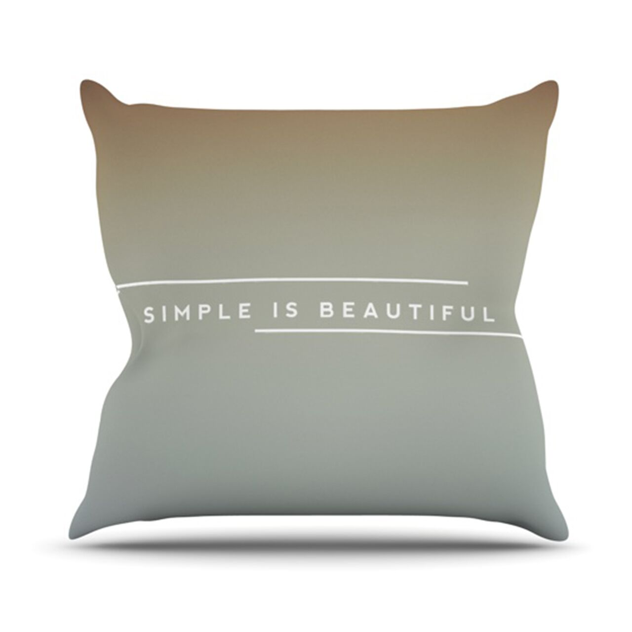 Simple Beautiful Throw Pillow Size: 26