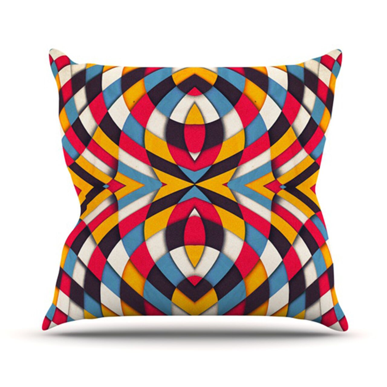 Stained Glass Throw Pillow Size: 26