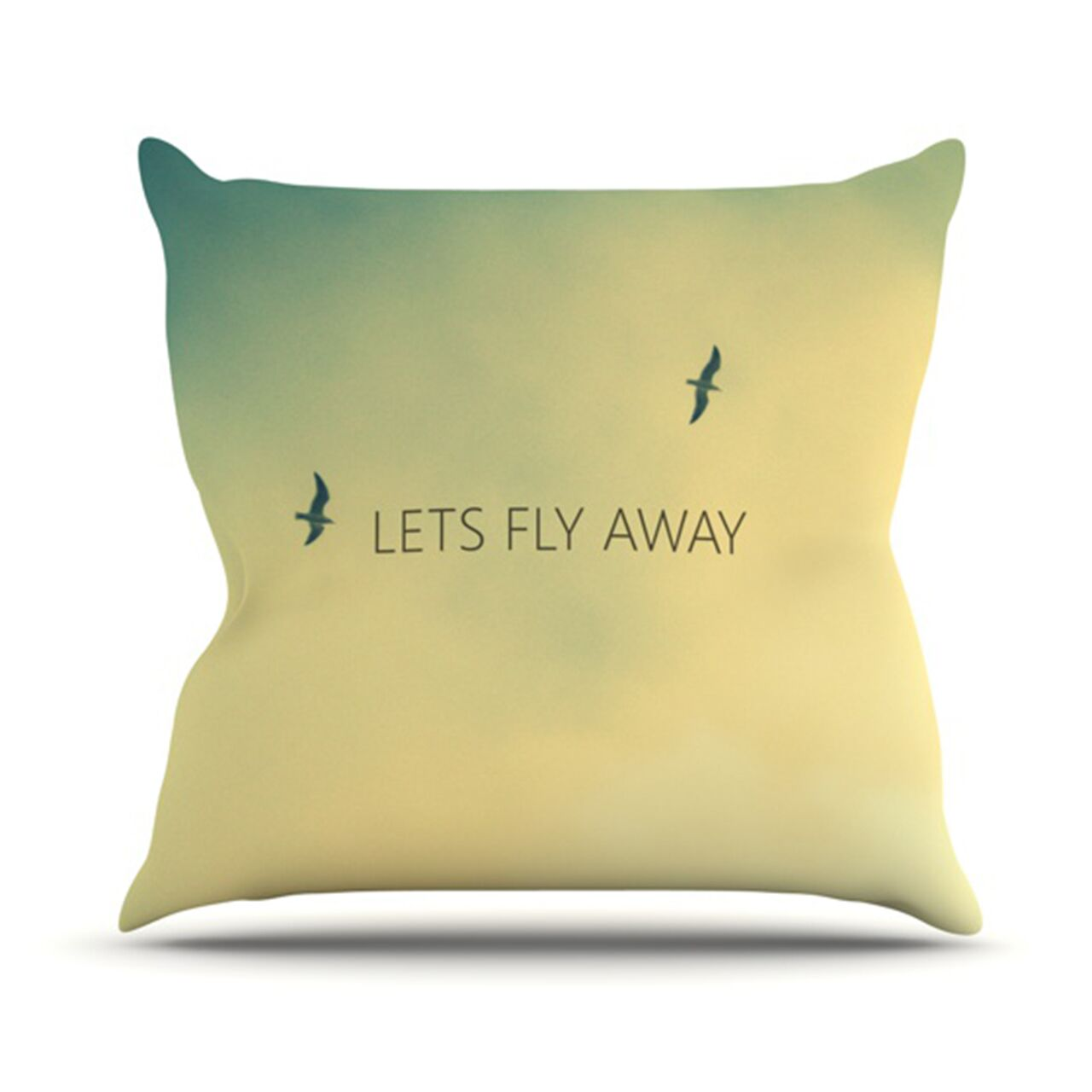 Let's Fly Away Throw Pillow Size: 26