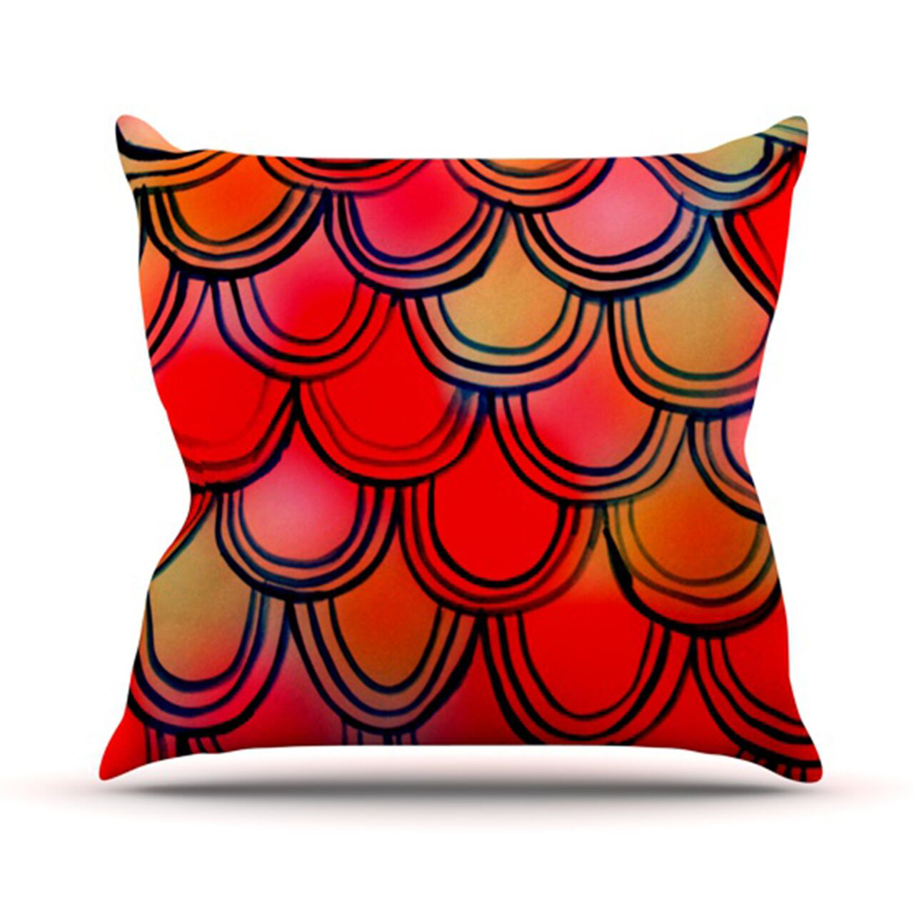 Throw Pillow Color: Dragon Tail, Size: 26